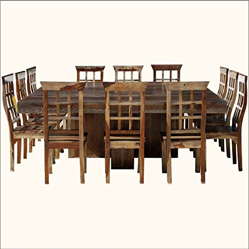 Aprodz Sheesham Wood Lima 12 Seater Dining Table Set For Home Dining Furniture Brown Finish Amazon In Home Kitchen