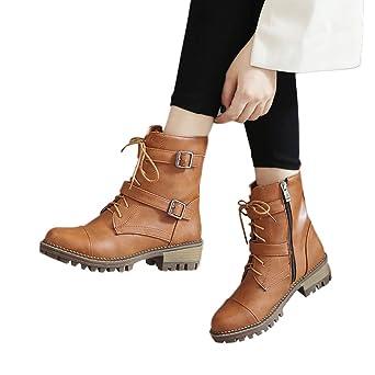 ... De Nieve Skidproof Felpa Algodón Acolchado Cuña Zapatos Plataforma con Cordones Antideslizante Punta Redonda Botas Martin: Amazon.es: Ropa y accesorios