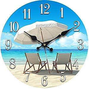 51QzZMXx9WL._SS300_ Coastal Wall Clocks & Beach Wall Clocks