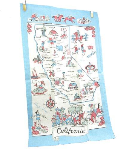 Moda California Souvenir State Map Dish Towel