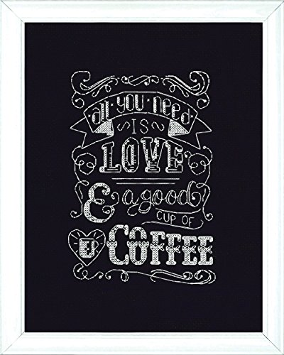 (Design Works Crafts Love Chalkboard Counted Cross Stitch Kit, 8 by)