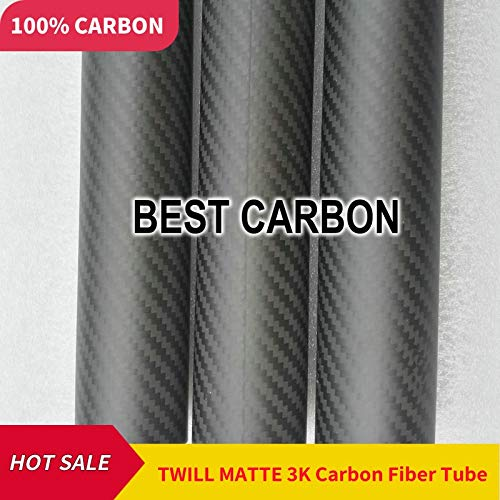 (Part & Accessories 24mm x 20mm x1000mm 3K Carbon Plain Fabric Wound Tube,Carbon Tail Boom,Quadcopter arms,gewickelt)