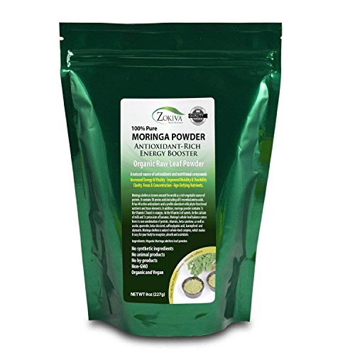 Moringa Oleifera Leaf Powder - Organic - 100% Pure - 8oz Resealable Pouch