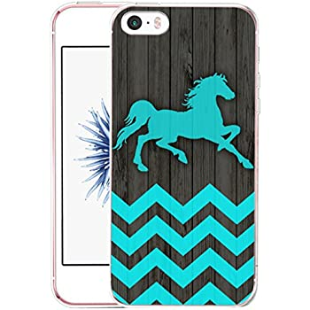 Iphone SE Case Horse - CCLOT Iphone 5 5S SE Cover Creative Personal Artist Artwork Design Horse Wonderful Blue Animal