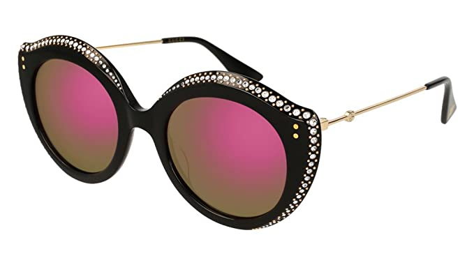 Gucci GG0214S 002, Gafas de sol para Mujer, Negro (2/Pink ...