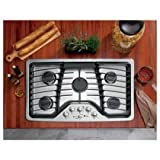 36inch gas cooktop - GE PGP976SETSS Profile 36