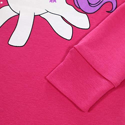 LitBud Girls Kids Chirstmas Unicorn Pajamas Sleepwears 2pcs Long Sleeves Pjs Nightwear Tops + Pants Sets for Girls Toddler Size 4-5 Years 5T
