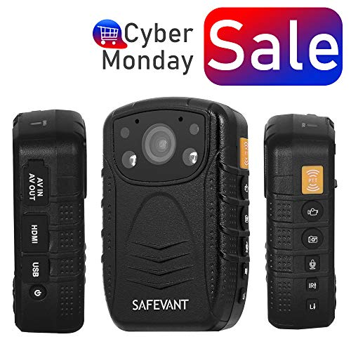 SAFEVANT 1296P HD Police Body Camera, Multi-Functional Body Worn Camera with 32GB Memory -