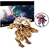 "IncrediBuilds Overwatch D.Va's Meka Poster and 3D Wood Model Kit - Build, Paint and Collect Your Own Wooden Model - Great for Kids and Adults,12+ - 4 1/2"" h"