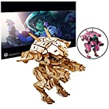 Overwatch D.Va's MEKA Poster and 3D Wood Model Kit - Build, Paint and Collect Your Own Wooden Model - Great For Kids and Adults,12+ - 4 1/2''h