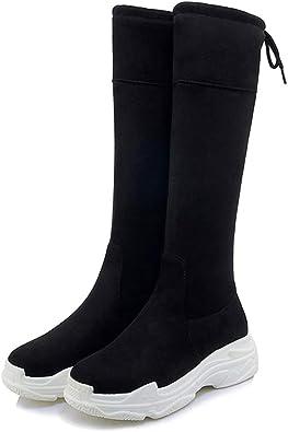 Women Round Toe Sneaker Boots Anti Slip