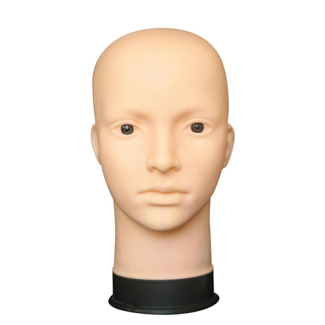 Mannequin Head,Fenleo Mannequin Flat Head Practice Make Up Massage Training Model Eyelash Extensions(K)