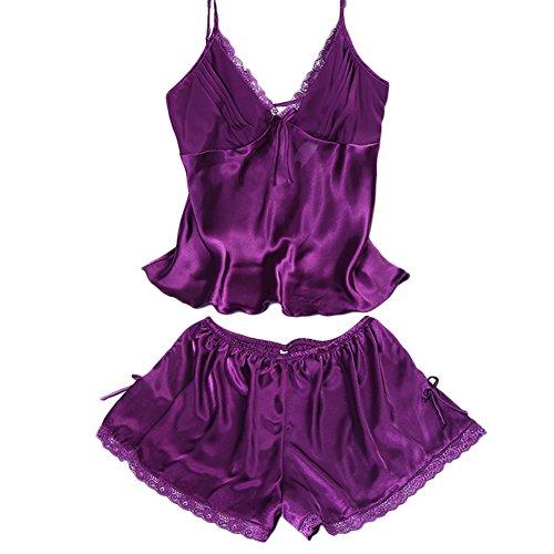 Donna UxradG Purple Camicia da notte qqntFBP