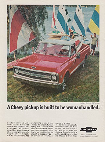 A Chevrolet Fleetside CST pickup built to be womanhandled ad 1969 OL