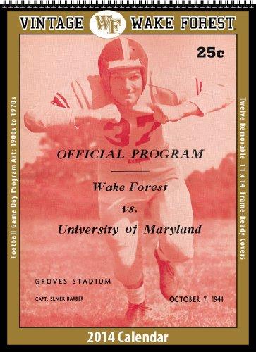 Wake Forest Demon Deacons 2014 Vintage Football Calendars (Forest Calendar Wake)