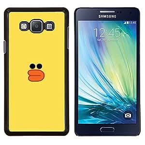 Pato Amarillo Dibujo Bath Toy Niños- Metal de aluminio y de plástico duro Caja del teléfono - Negro - Samsung Galaxy A7 / SM-A700