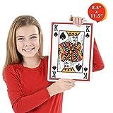 "Gamie Giant Jumbo Playing Cards Deck (8.5"" x 11.5) Oversized Super Big Poker Card Set | Huge Casino Game Cards Kids, Men, Women Seniors | Great Novelty Gift Idea"