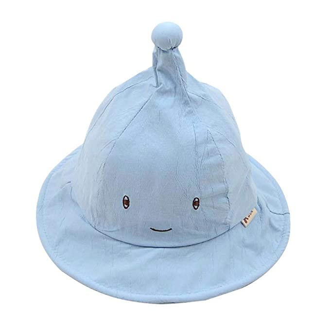 e5959d4ef29c4 Amazon.com  IMLECK Smiling Witch Sun Protection Wide Brim Baby Sun Hat  Blue  Clothing