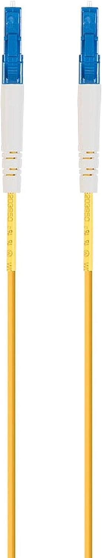 G657A1 Monoprice Fiber Optic Cable 2M 2mm Simplex Single Mode - LC//UPC-LC//UPC PVC Meter