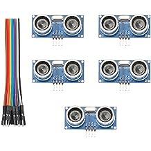 Keywish 5PCS HC-SR04 Ultrasonic Module Kit Distance Sensor for Arduino UNO Mega R3 Mega2560 Nano Duemilanove Nano Raspberry Pi 3 Robot