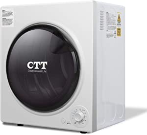 CTT 13 Lbs. Capacity/3.5 Cu.Ft. Electric Portable Compact Laundry Clothes Dryer | Stainless Steel Tub - White