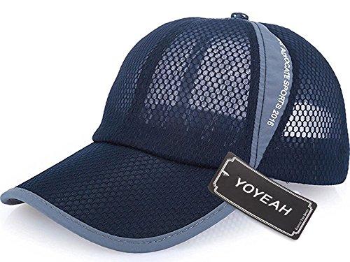 Revgear Long Sleeve (YOYEAH Men and Women Snapback Baseball Cap Sun Hat Outdoor Sports Mesh Hat Navy Blue)