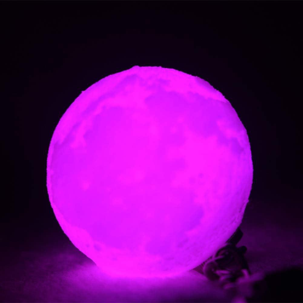 AchidistviQ Portable 3D Stampato Luna Notte Luce LED Lampada della Sfera Portachiavi Portachiavi Decor Gift Light