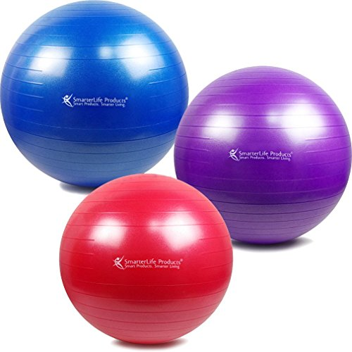 SmarterLife-Exercise-Ball-for-Yoga-Pilates-Therapy-Posture-Support-Desk-Chair-and-Birthing-Anti-Burst-Exercise-Balls-Rated-at-2000-lbs-Non-Slip-Grip