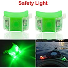 Botepon 2Pcs Boat Kayak Navigaton Light Safety Light Led Boat Light with 3 Modes for Riding Sailing Runing Climbing Green