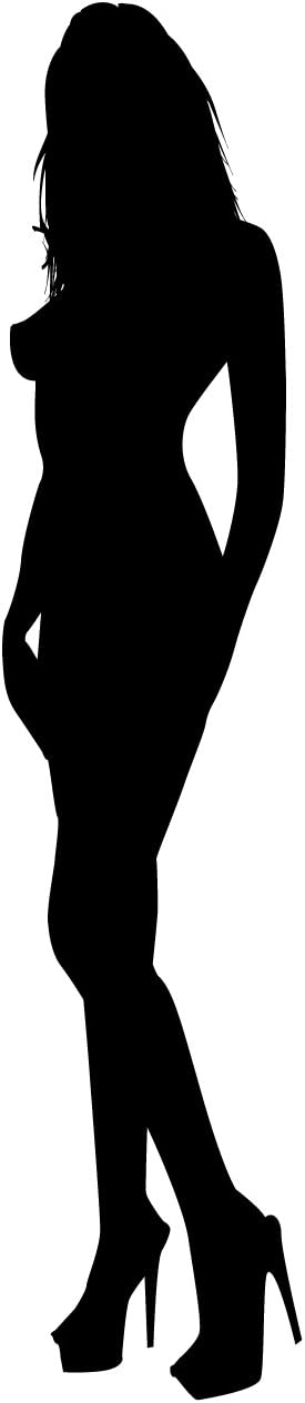 Sexy Girl Pinup Wall Decals Sticker 2 - Decal Stickers and Mural for Adult Room and Bedroom. Girl Vinyl Decor Wall Art for Home Decor and Decoration - Sexy Girl Silhouette Mural