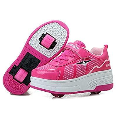 fc64fc863311 SeventhZone Children Heelys Kids Fashion Sneakers with Two Wheels Skate  Roller Shoes Ultra-Light Boys Girls Shoes 28-43  Amazon.co.uk  Shoes   Bags
