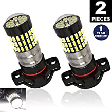 LUYED 2 X 900 Lumens Super Bright 3014 78-EX Chipsets H16 5202 TYPE 1 Led Bulbs Used for DRL or Fog Lights,Xenon White