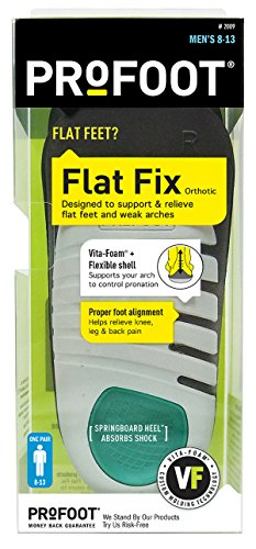 PROFOOT Flat Fix Orthotic, Men's 8-13, 1 Pair