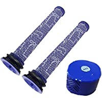 ZLZH 2 pack Pre Filters + 1 Post HEPA Filter for Dyson V6 Absolute Cordless Vacuums,Compare to Part # 966741-01