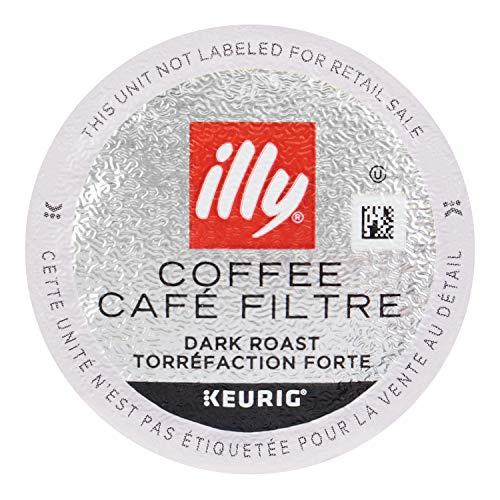 illy Coffee, Dark Roast, K-Cup for Keurig, 100% Arabica Bean Signature Italian Blend, Premium Gourmet Roast Single Serve Drip Coffee