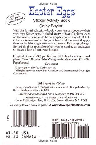Easter Eggs Sticker Activity Book (Dover Little Activity Books ...