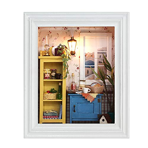 Zerodis DIY Doll House, Miniature Dollhouse Kit Decorations, used for sale  Delivered anywhere in USA