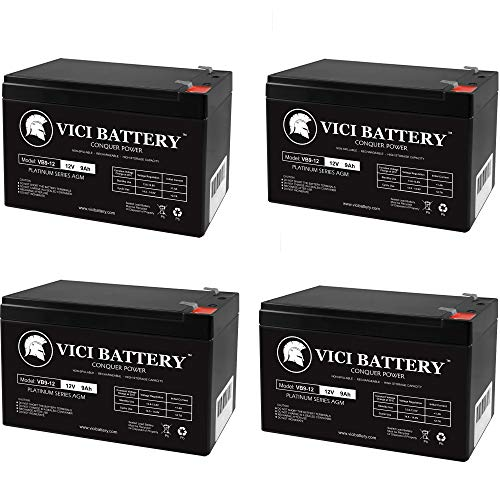 VICI Battery 12V 9Ah SLA Battery Replaces City Mantis Electric Scooter - 4 Pack Brand Product
