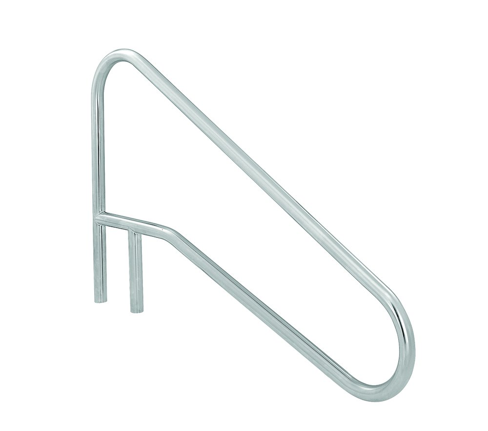S.R. Smith DMS-102A 3-Bend Deck Mounted Braced Swimming Pool Handrail, Stainless Steel by S.R. Smith