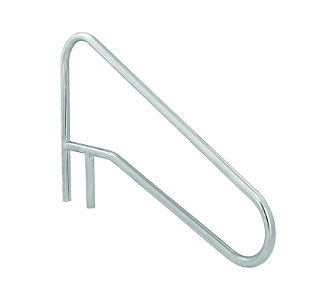 SR Smith DMS-102A 3-Bend Deck Mounted Braced Swimming Pool Handrail,  Stainless Steel