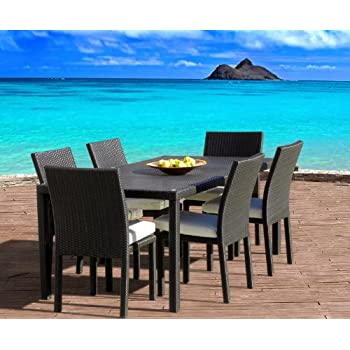 This Item Outdoor Patio Wicker Furniture New All Weather Resin 7 Piece  Dining Table U0026 Chair Set