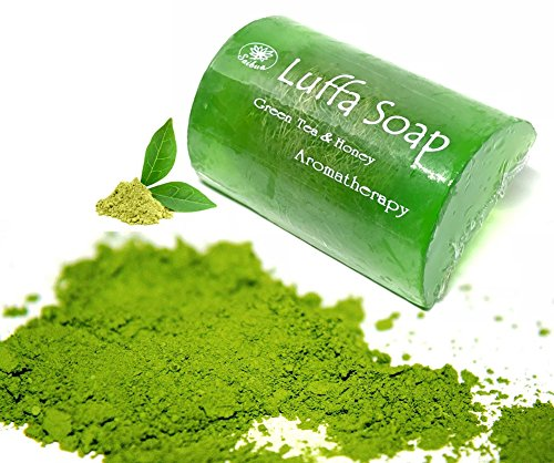 ユーモラス焼く勝利Soap Net Nature Handmade Aroma Aroma Tea & Honey Scrub Herbal Natural Relaxing After Work & Sport A luffa middle the soap Made from herbs