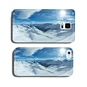 Silvretta Alps winter view (Austria). Panorama. cell phone cover case Samsung S6