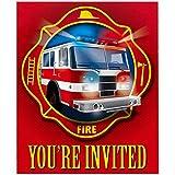 Fire Trucks Invitations (8)