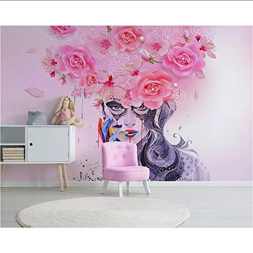 Lifme Custom Large 3D Wallpaper Modern Graffiti Colorful Floral Attractive Beauty Oil Painting Background Wall Wallpaper 3D Placket-200X140Cm