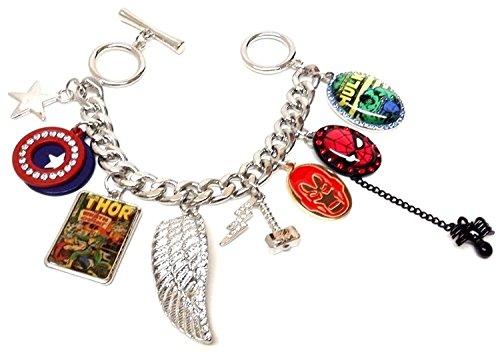 Marvel Comics Superhero Charm Bracelet