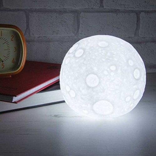 Mondschein Dekolampe - Moonlight Dekoleuchte Vollmond Dekolicht Kinderzimmer Stimmungslicht - Standlicht
