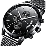 Watches,Men's Luxury Stainless Steel Wrist Watch in,Fashional Design and Elegant Dress For Men (Allblack)