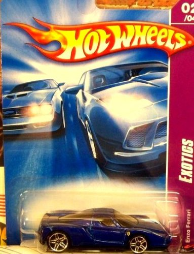 Mattel Hot Wheels 2008 1:64 Scale Team Exotics Blue Enzo Ferrari Die Cast Car #114