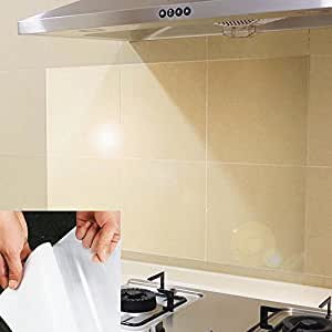 Amazon.com: BESTERY 4pcs Kitchen Backsplash Wallpaper ...
